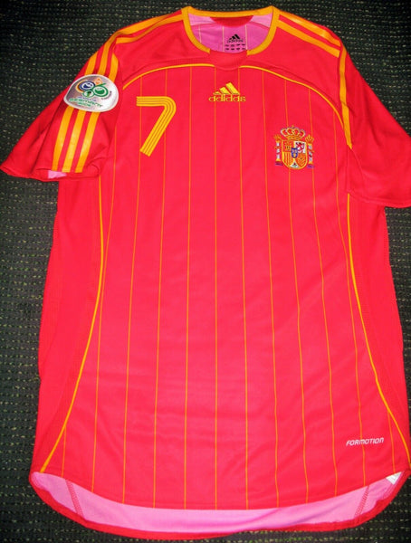 Raul Spain PLAYER ISSUE 2006 WORLD CUP Jersey Camiseta Shirt Espana S - foreversoccerjerseys