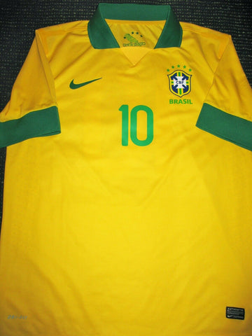 Ronaldinho Brazil PLAYER ISSUE 2013 Jersey Shirt Camiseta XL - foreversoccerjerseys