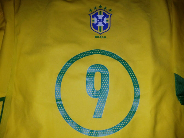 Ronaldo Brazil 2004 PLAYER ISSUE LIMITED EDITION Jersey Shirt L - foreversoccerjerseys