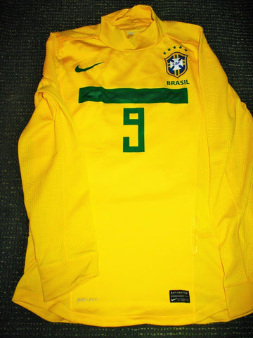 Ronaldo Brazil PLAYER ISSUE 2011 FAREWELL MATCH Jersey Shirt M - foreversoccerjerseys
