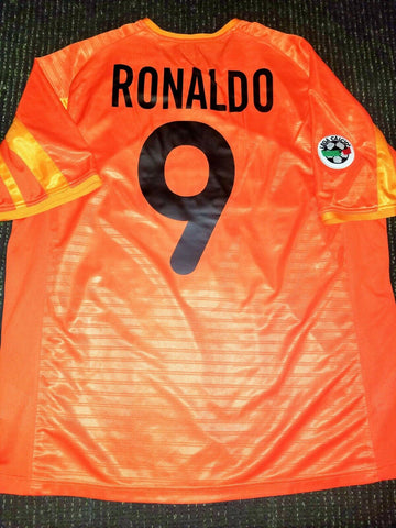 Ronaldo Inter Milan 2001 2002 Orange Jersey Shirt Maglia L