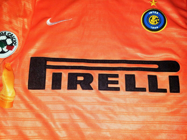 Ronaldo Inter Milan 2001 2002 Orange Jersey Shirt Maglia L - foreversoccerjerseys