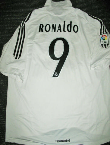 Ronaldo Real Madrid LAST GAME 2005 2006 Jersey Shirt Camiseta XL - foreversoccerjerseys