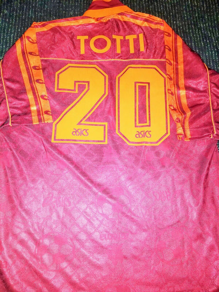 Totti As Roma Asics 1995 1996 Jersey Maglia Shirt XL - foreversoccerjerseys