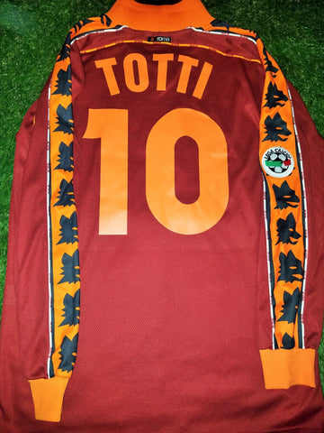 Totti As Roma Diadora 1998 1999 Long Sleeve Jersey Maglia Shirt L foreversoccerjerseys