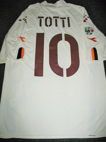 Totti As Roma Diadora White 2003 2004 Jersey Shirt XL - foreversoccerjerseys