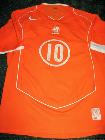 Van Nistelrooy Netherlands Holland 2004 LIMITED EDITION PLAYER ISSUE Jersey Shirt L - foreversoccerjerseys