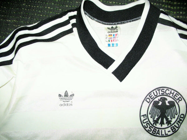 West Germany 1986 WORLD CUP QUALIFIERS Jersey Shirt Deutschland Trikot M - foreversoccerjerseys