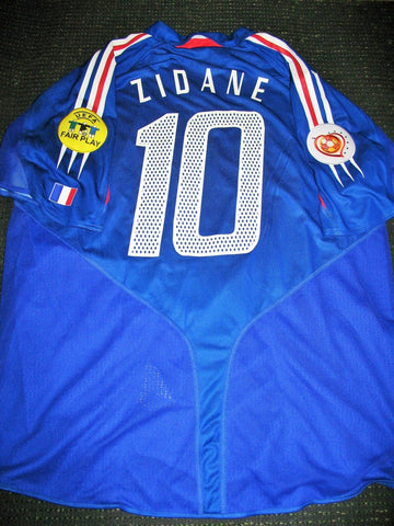 Zidane France 2004 Euro Cup Player Issue Jersey Shirt Maillot - foreversoccerjerseys