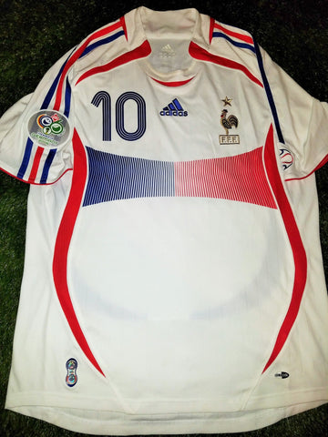 Zidane France 2006 WORLD CUP FINAL Jersey Maillot Shirt Trikot M foreversoccerjerseys