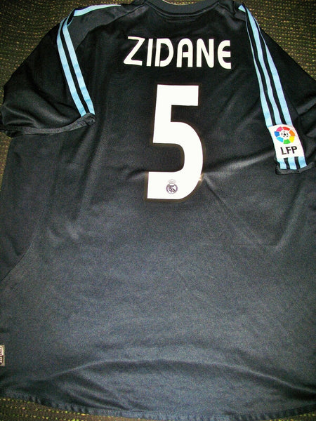 Zidane Real Madrid 2003 2004 Navy Jersey Shirt Camiseta Maillot XL - foreversoccerjerseys