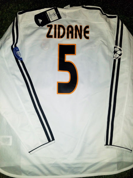 Zidane Real Madrid 2003 2004 UEFA Long Sleeve Jersey Shirt Camiseta 913869 ASR001 XL BNWT foreversoccerjerseys