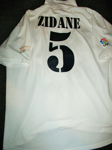 Zidane Real Madrid CENTENARY 2002 2003 Jersey Shirt Camiseta XL - foreversoccerjerseys