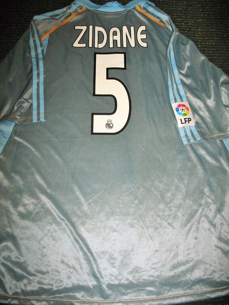 Zidane Real Madrid Grey 2003 2004 Jersey Shirt Camiseta XL - foreversoccerjerseys