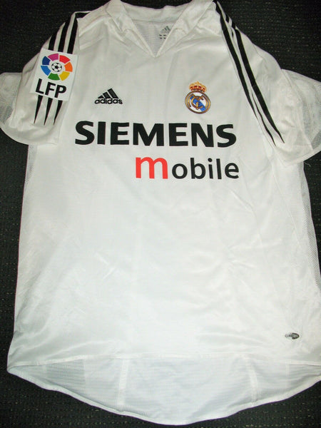 Zidane Real Madrid PLAYER ISSUE 2004 2005 Jersey Camiseta Shirt M - foreversoccerjerseys