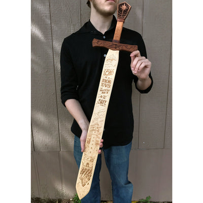 The Name of The Lord is a Strong Tower - Scripture Sword Sign