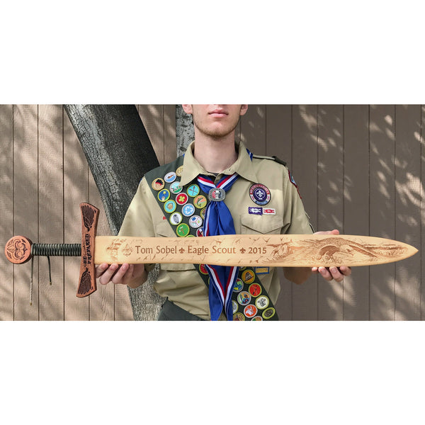 Eagle Scout Wooden Sword Wall Decor Campfire Arts