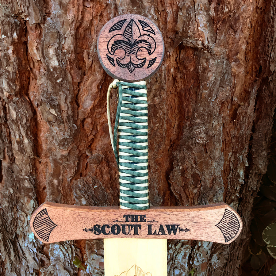 Scout Law - Wooden Sword Wall Plaque