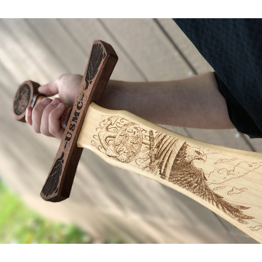 Wooden Sword for Marines Wall Decor
