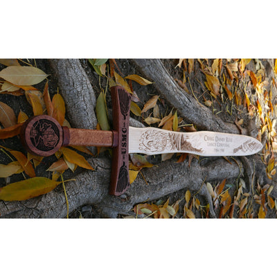 United States Marines Wooden Sword Wall Decor
