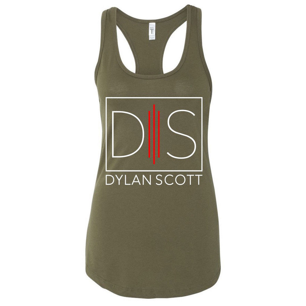 Ladies' Green Logo Tank