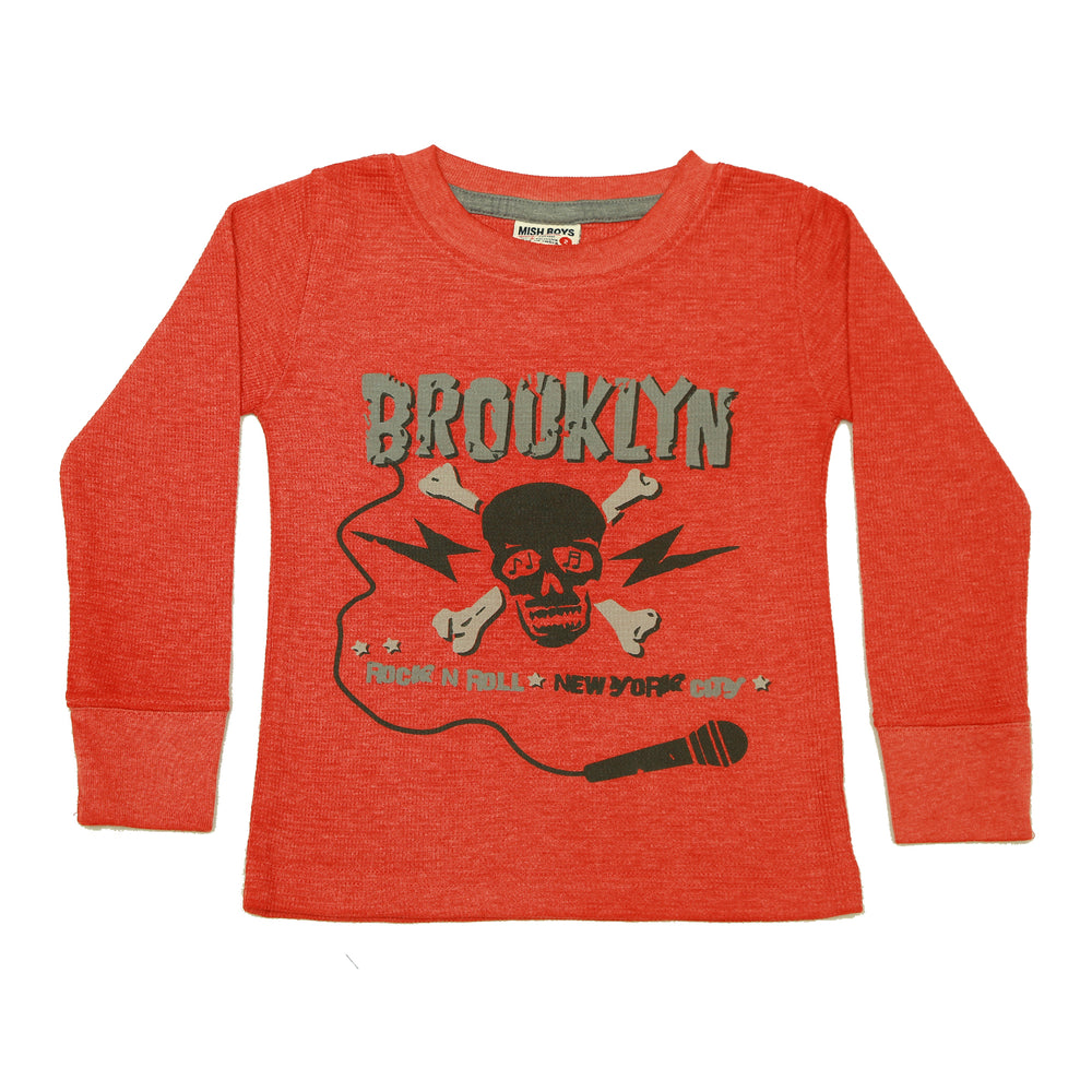 Long Sleeve Thermal Shirt - Brooklyn Skull (3854301986891)