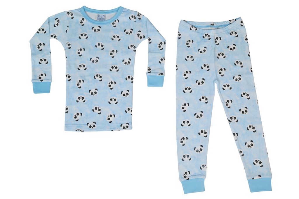 Boys Pajamas - Pandas on Blue