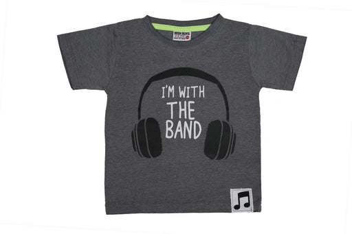 T-Shirt - I'm with the Band - Coal