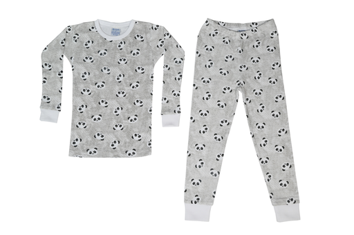 Pajamas - Pandas on Gray (1487676407883)
