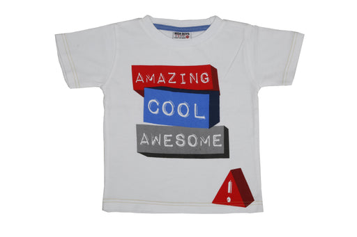 T- Shirt - Amazing Cool Awesome - White