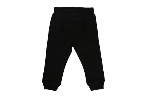 Solid Fleece Sweat Pants - Black (1486003011659)