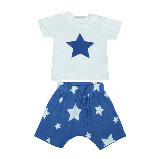 NEW Little Mish Shorts Set - Cobalt Stars (4496643457099)