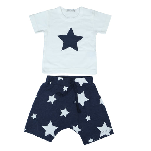 NEW Little Mish Shorts Set - Navy Stars (4496584474699)