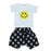 NEW Little Mish Shorts Set - Yellow Smileys (4496645849163)
