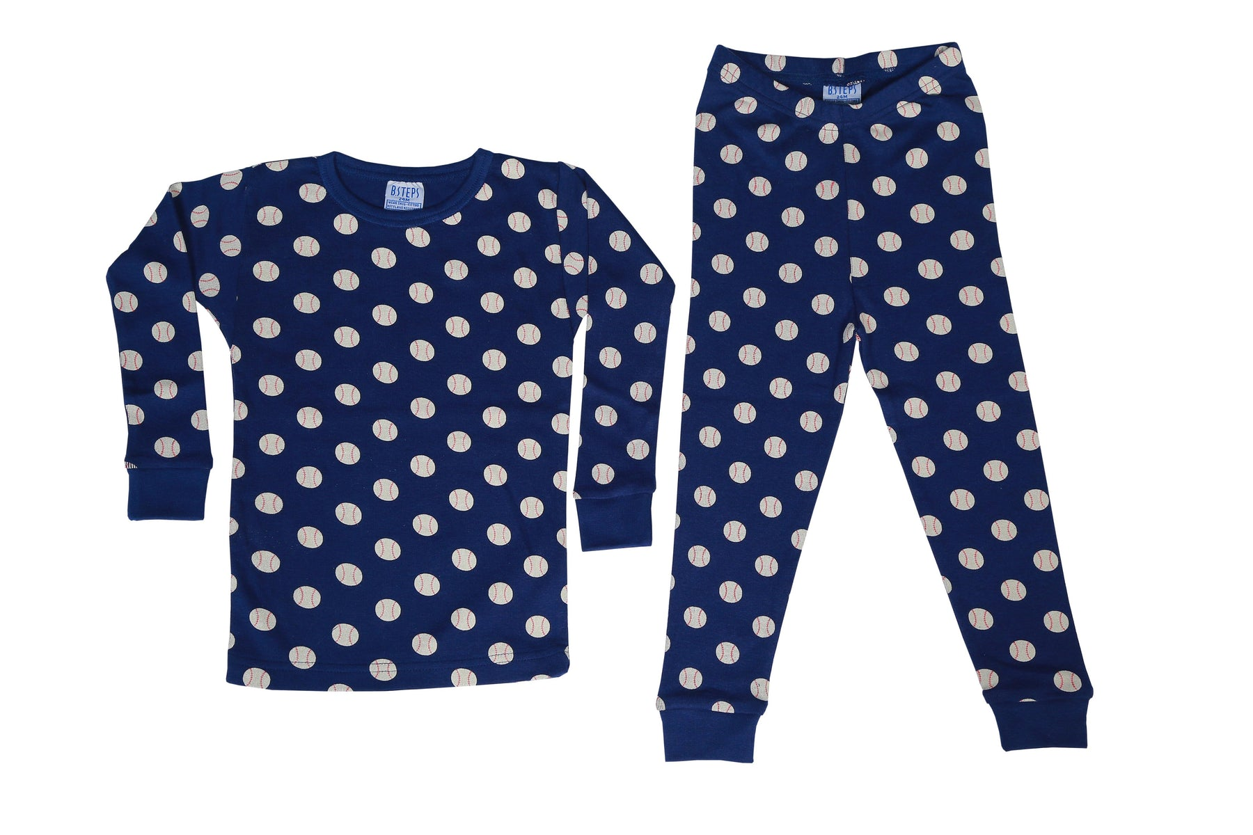 Pajamas - Baseballs on Navy (1510065995851)