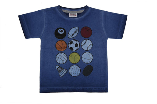 T-Shirt - Sports Balls - Cobalt