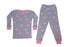 Pajamas - Fuschia Hearts on Gray