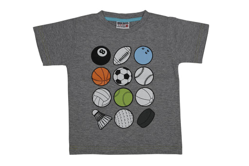 T-Shirt - Sports Balls - Heather