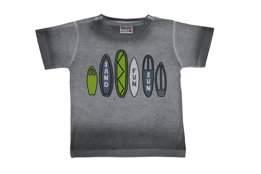 T-Shirt - Surfboards - White/Gray Spray