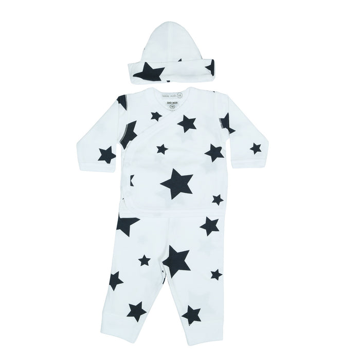 NEW Little Mish Stars 3 Piece Take Me Home Set - White/Navy (4497766776907)