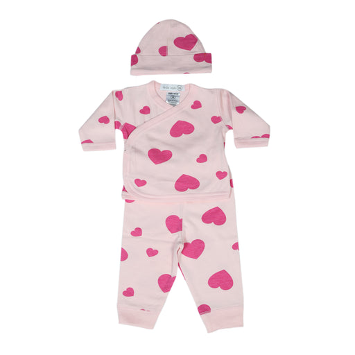 NEW Little Mish Hearts 3 Piece Take Me Home Set - Pink (4497775853643)