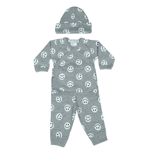 NEW Little Mish Smileys 3 Piece Take Me Home Set - Heather (4499564691531)