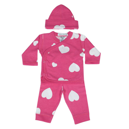 NEW Little Mish Hearts 3 Piece Take Me Home Set - Bubblegum (available in NB ONLY) (4497774411851)