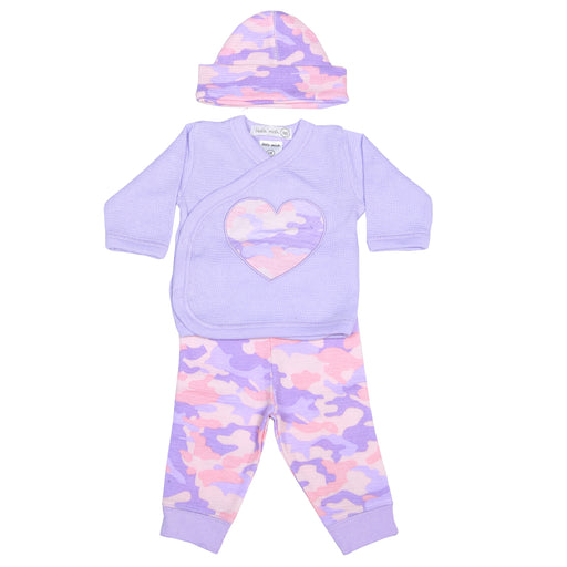NEW Little Mish Thermal 3 Piece Take Me Home Set - Lilac with Pink Camo (3975208796235)