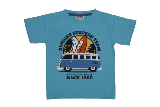 T-Shirt - Sunrise Surfers - Aqua