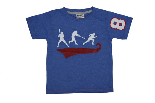 T-Shirt - Baseball Players - Cobalt