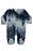 Tie Dye Footie - Blue Star - Ocean