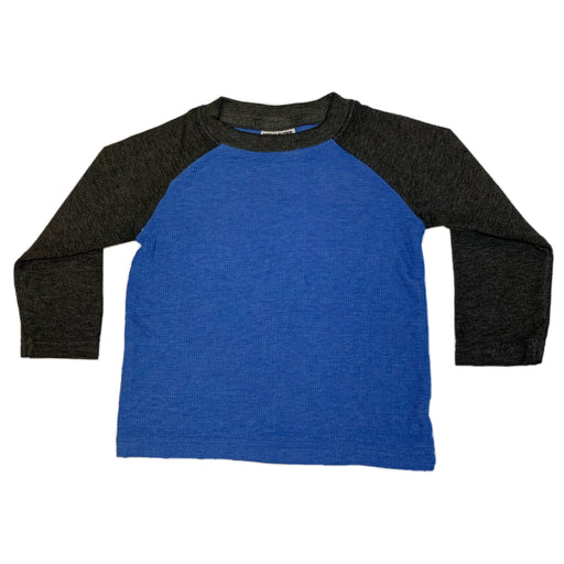 Long Sleeve Raglan Thermal - Cobalt and Black (1507086893131)
