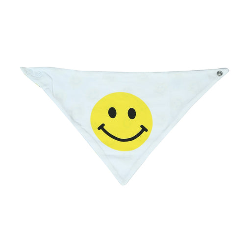 NEW Little Mish Reversible Bandana Bib - Yellow Smileys (4500483113035)
