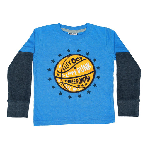 Long Sleeve 2Fer Shirt w Thermal Sleeves - Basketball